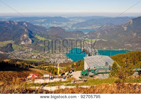 Cable Car Station And A View From A Mountain