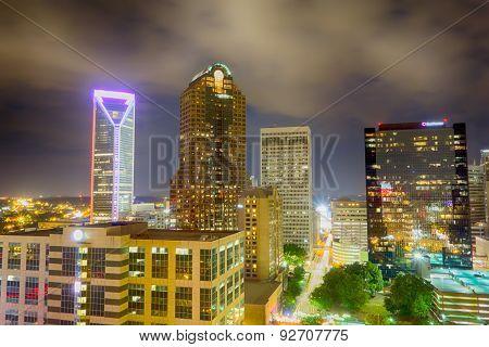 Night View Scenes Around Charlotte North Carolina