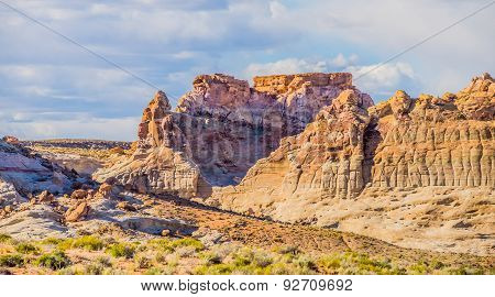 Canyon Geological Formations In Utah And Arizona