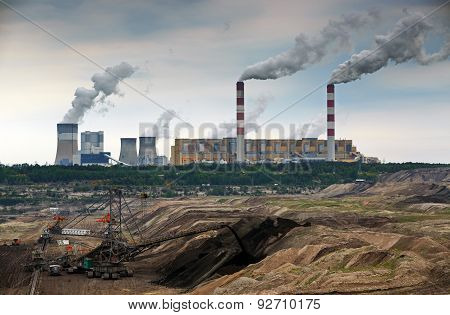 Open Pit Mine And Power Plant