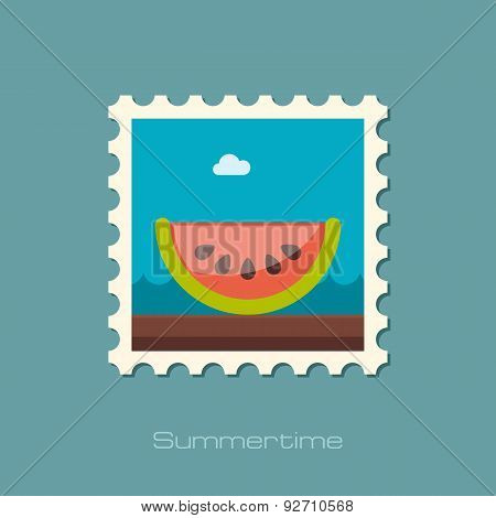 Watermelon Slice Flat Stamp