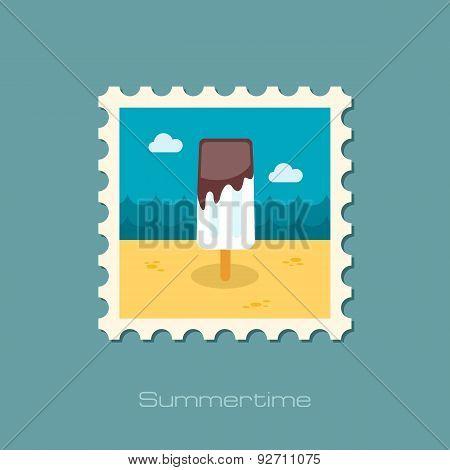 Ice Cream Flat Stamp