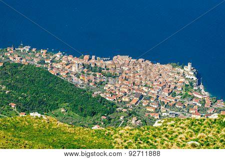 Lake Garda, Malcesine Aerial View