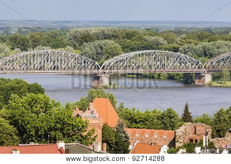 Poland - Torun, City Divided By Vistula River Between Pomerania And Kuyavia Regions. Old Town Skylin