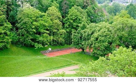Sport Field In The Forest
