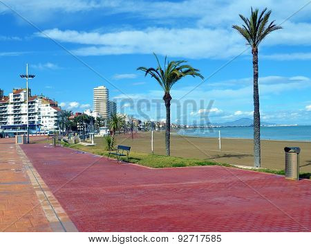 Beach At Costa Dorada Spain