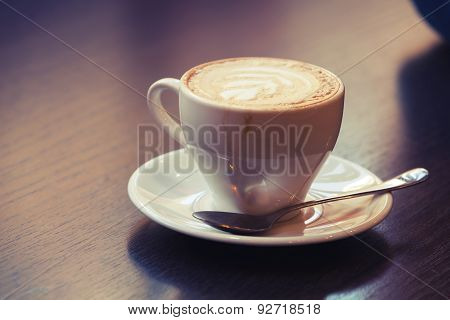 Cappuccino, Cup Of Coffee With Milk Foam