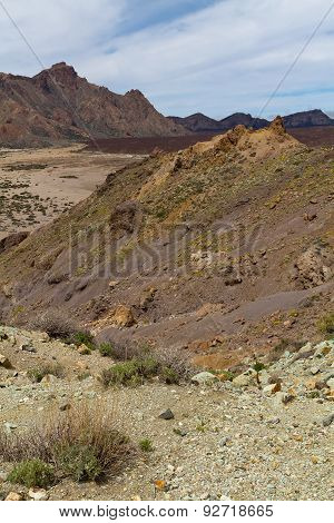 A View Towards A Curvature Of A Mountain Of A Dry Land
