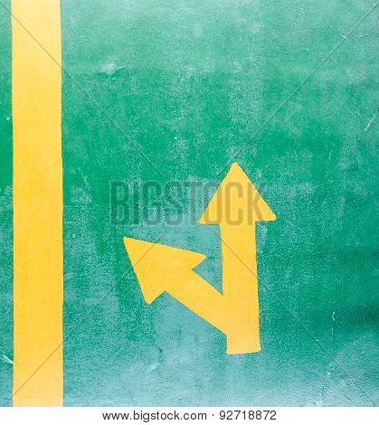 Yellow Junction Arrow