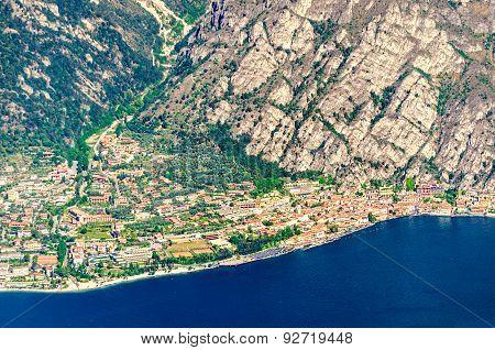 Lake Garda, Limone Sul Garda Aerial View