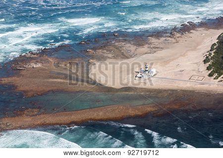 Cape Recife Coastline And Lighthouse, South Africa