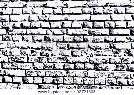 Wall masonry art black & white  web style