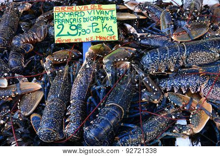 Lobsters At The Market Of Le Touquet Paris Plage