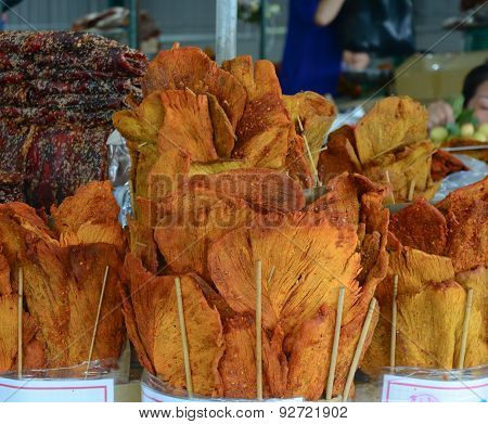 Dried Fish With Salt And Spice At Market