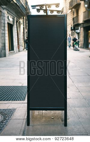 Chalkboard mockup on the street