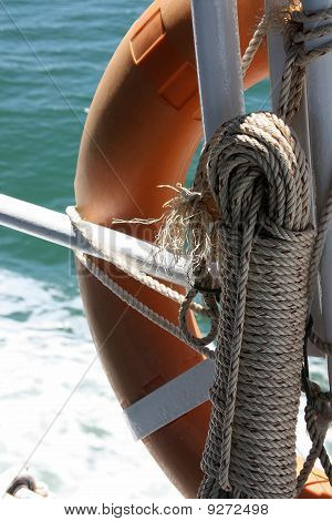 Rope and lifebuoy