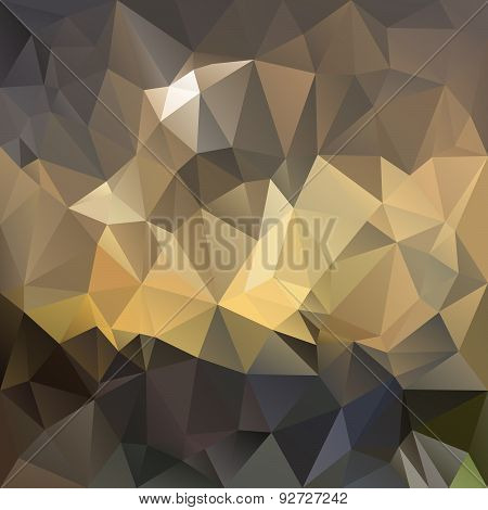 Vector Polygonal Background - Triangular Design In Caramel Color