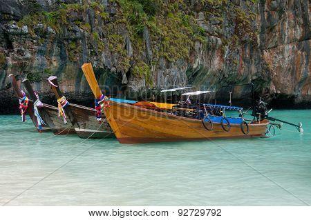 Thai Traditional Long Boats