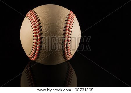 Low key baseball ball