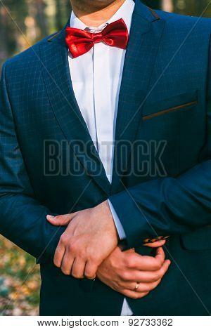 groom jacket butterfly