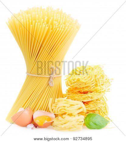 spaghetti, tonarelli and  tagliatelle