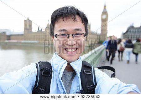 Happy Traveler In London
