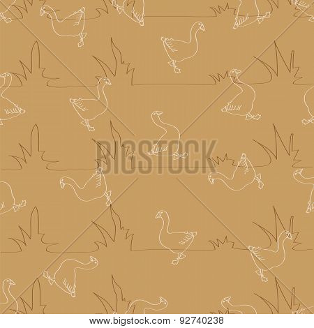 Background With Geese