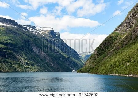 Geirangerfjord and the ferry