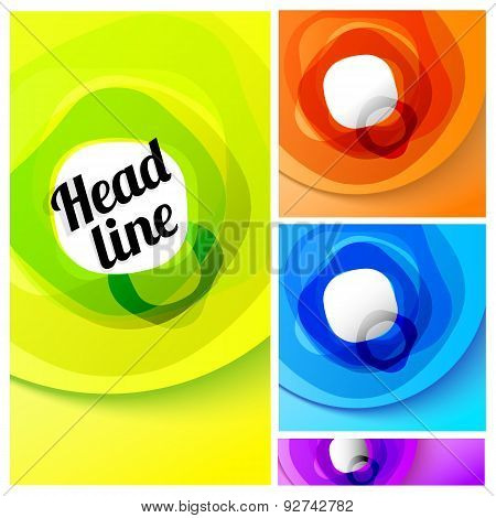 Vector Easy Geometric Background Set For Your Headline