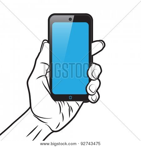 PopArt Style Mockup with Smartphone in Hand