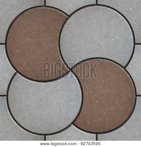 Gray and Brown Pavement  in the Form of a Circle.
