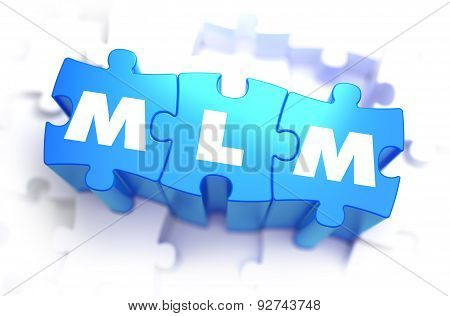 MLM - Text on Blue Puzzles.
