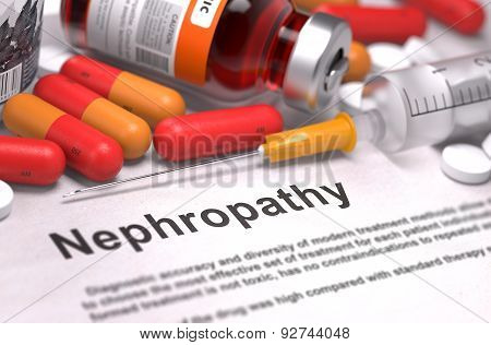 Diagnosis - Nephropathy. Medical Concept.