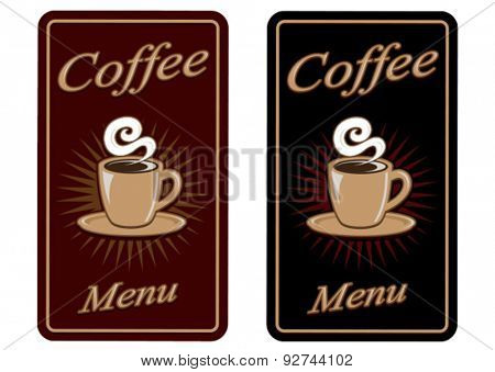 Retro  Vintage Coffee Menu Design