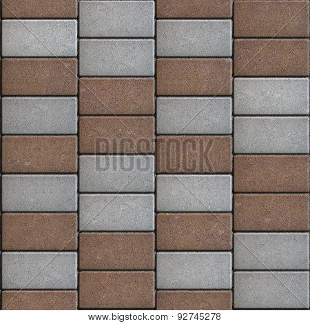 Brown  Paving Consisting of  Rectangles Laid Out in a Chaotic Manner.