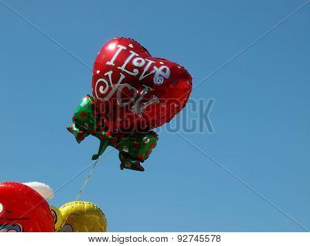 Colored balloon.