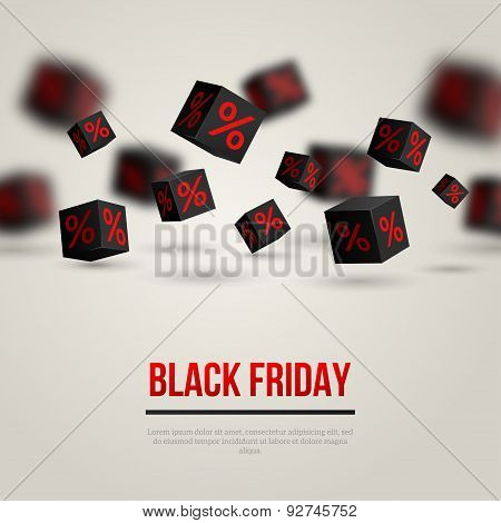 Black Friday Sale Poster. Vector Illustration
