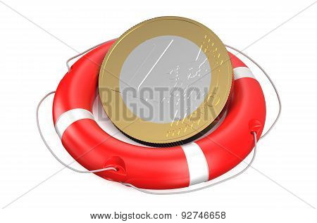 Euro On Lifebuoy