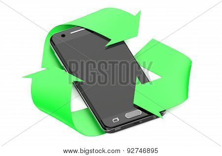 Smartphone With Symbol Recycle