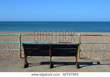 Seaside bench.