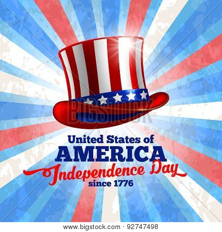 Independence day of United States of America  - festive vector background