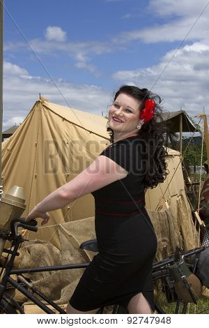 Pinup On Bike