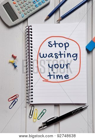 Stop Wasting Your Time Word