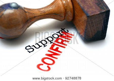 Support Confirm