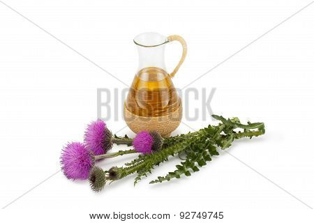 Thistle Oil And Milk Thistle Flower