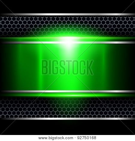 Background abstract green metallic, vector illustration.