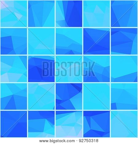 Abstract mosaik blue background