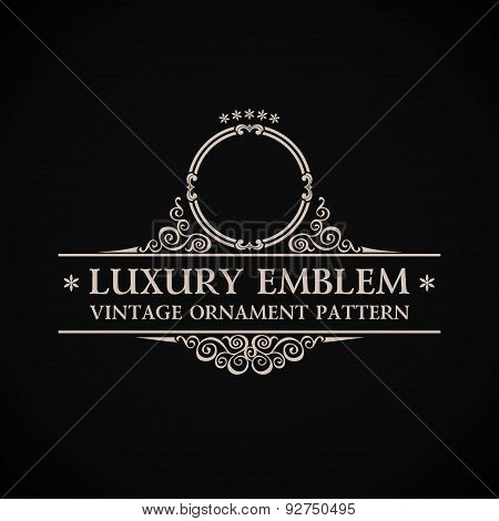 Vintage vector logo. Calligraphic elegant decor element