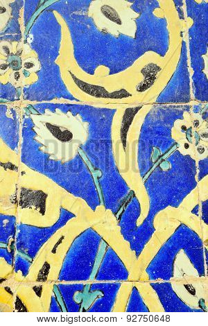 Vintage Islamic Tiles in Imam(Shah) Mosque, Naqsh-e Jahan Square
