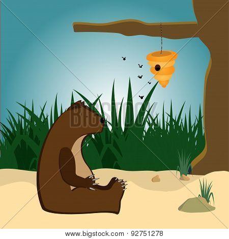 bear and beehive